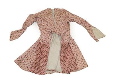 Lot 2066 - Circa 1830-40 Dutch Maid's Long Sleeve Three-Quarter Length Jacket, of traditional cut in a red and