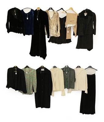 Lot 2076 - Assorted Circa 1930 and Later Ladies' Costume and Separates, comprising a Peggy Goss Birmingham...