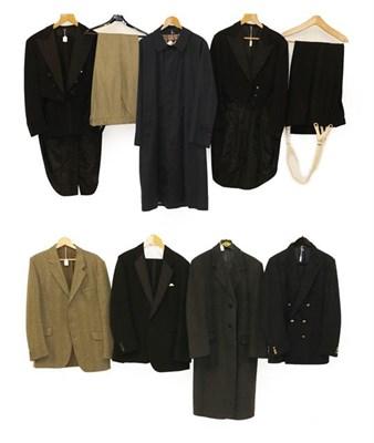 Lot 2091 - Assorted Late 20th Century Gentlemen's Clothing, comprising a Daks Simpson navy blue mackintosh...