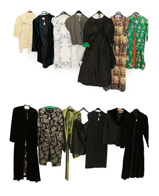 Lot 2094 - Mainly Late 20th Century Ladies' Occasion Costume, including an Emporio Armani black two piece suit