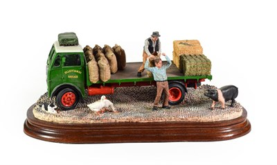 Lot 7 - Border Fine Arts 'Afternoon Deliveries' (Lorry, Geese and Pig), model No. B1022 by Ray Ayres,...