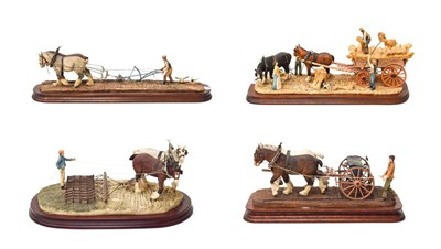 Lot 10 - Border Fine Arts and Northumbria Harvesting Figure Groups by Judy Boyt, all limited edition...