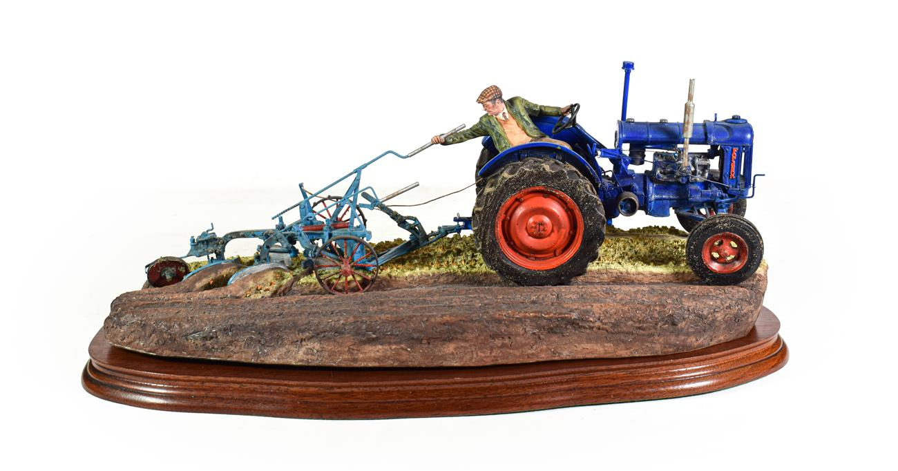 Lot 12 - Border Fine Arts 'At the Vintage' (Fordson E27N Tractor), model No. B0517 by Ray Ayres, limited...