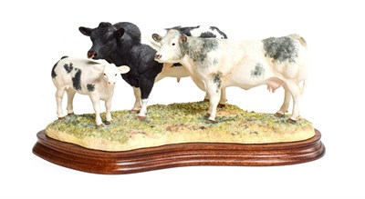 Lot 16 - Border Fine Arts 'Belgian Blue Family Group', model No. B0771 by Kirsty Armstrong, limited...