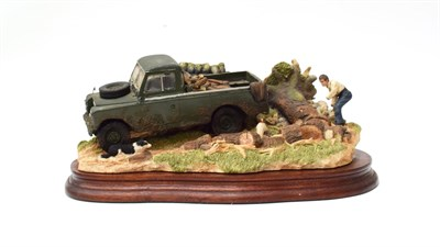 Lot 25 - Border Fine Arts 'Clearing the Way' (2006 Land Rover), model No. B0945 by Ray Ayres, limited...