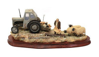 Lot 33 - Border Fine Arts 'Frosty Morning' (Fergie TE20), model No. B0343 by Ray Ayres, limited edition...