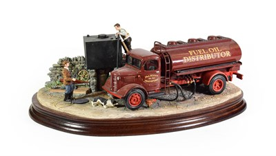 Lot 34 - Border Fine Arts 'Fuelling the Farm', model No. B1161 by Ray Ayres, limited edition 329/500, on...