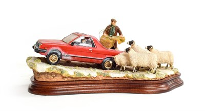 Lot 37 - Border Fine Arts 'Getting The Feed Out', model No. B1250 by Ray Ayres, limited edition 94/500...