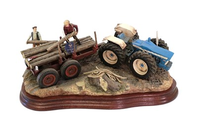 Lot 38 - Border Fine Arts 'Hard Work By Hand', model No. B1249 by Ray Ayres, limited edition 36/500, on wood