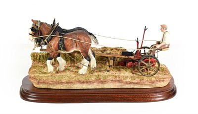 Lot 39 - Border Fine Arts 'Hay Cutting Starts Today' (Standard Edition), model No. B0405A by Ray Ayres,...