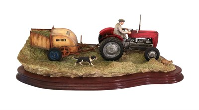 Lot 41 - Border Fine Arts 'Hay Turning' (Massey Ferguson Tractor and Wuffler), model No. JH110 by Ray Ayres