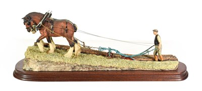 Lot 47 - Border Fine Arts James Herriot Model 'Stout Hearts' (Ploughing Scene), model No. JH34, by Ray Ayres