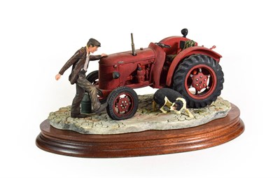 Lot 48 - Border Fine Arts 'Kick Start' (David Brown Cropmaster Tarctor, Farmer and Collie), model No....