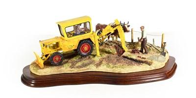 Lot 49 - Border Fine Arts 'Laying the Clays' (Farmer laying land drains, Ayrshire cows), model No. B0535...