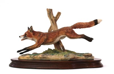 Lot 51 - Border Fine Arts 'Leicester Fox', model No. L58 by Ray Ayres, limited edition 122/500, on wood...