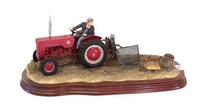 Lot 52 - Border Fine Arts 'Lifting the Pinks' (International B250 Tractor), model No. B0219 by Ray...