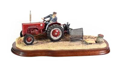 Lot 53 - Border Fine Arts 'Lifting the Pinks' (International B250 Tractor), model No. B0219 by Ray...