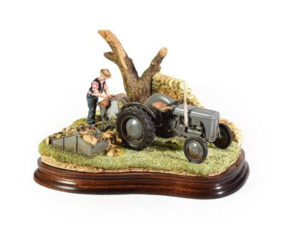 Lot 55 - Border Fine Arts 'Logs for Sale' (Grey Fergie), model No. B1383 by Ray Ayres, limited edition...