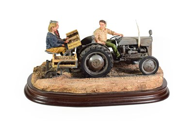 Lot 57 - Border Fine Arts 'Main Crop', model No. B1162 by Ray Ayres, limited edition 654/950, on wood...