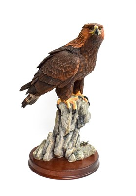Lot 58 - Border Fine Arts 'Master Of The Skies' (Golden Eagle), model No. B0529 by Richard Roberts,...