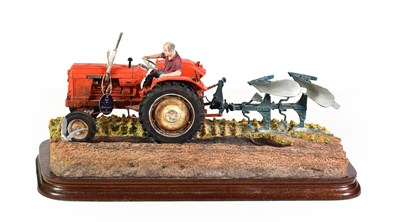 Lot 66 - Border Fine Arts 'Reversible Ploughing' (Nuffield 4/65 Diesel Tractor), model No. B0978 by Ray...