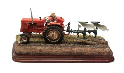 Lot 67 - Border Fine Arts 'Reversible Ploughing' (Nuffield 4/65 Diesel Tractor), model No. B0978 by Ray...