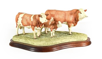 Lot 72 - Border Fine Arts 'Simmental Family Group', model No. B0401 by Kirsty Armstrong, limited edition...