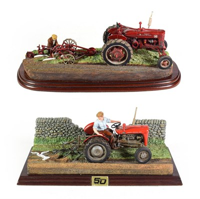 Lot 81 - Border Fine Arts Studio Tractor Models 'Autumn Ploughing', model No. A9387, limited edition...