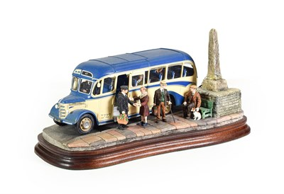 Lot 87 - Border Fine Arts 'The Country Bus', model No. B1235 by Ray Ayres, limited edition 15/350, on...