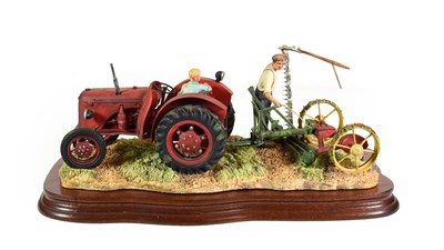 Lot 88 - Border Fine Arts 'The First Cut' (David Brown Cropmaster), model No. JH70 by Ray Ayres, limited...