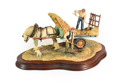 Lot 89 - Border Fine Arts 'The Haywain' (Haymaking ), model No. JH73 by Anne Wall, limited edition 446/1500