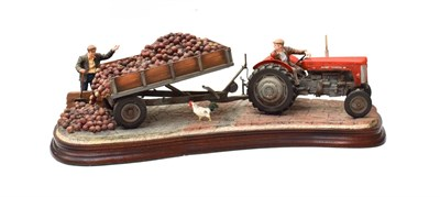 Lot 91 - Border Fine Arts 'Tipping Turnips', model No. B1037 by Ray Ayres, limited edition 92/950, on...
