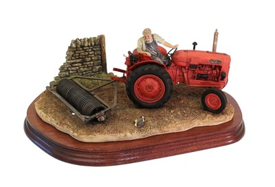 Lot 92 - Border Fine Arts 'Turning with Care' (Nuffield Tractor), model No. B0094 by Ray Ayres, limited...