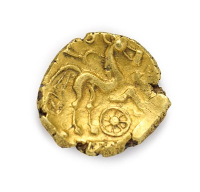 Lot 4001 - Celtic, Early Uninscribed ''Remic'' Gold Stater. C. 65 B.C. 5.88g, 18.5mm. Type Qb. Obv: Blank....