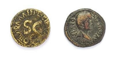 Lot 4003 - Ancient Rome, 2 x Copper Alloy Coins of Augustus, (27 B.C. - 14 A.D.) consisting of: Augustus,...