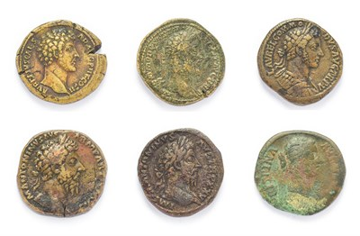 Lot 4007 - Ancient Rome, A Collection of 5 x Brass Sestertii consisting of: Marcus Aurelius (139 - 161...