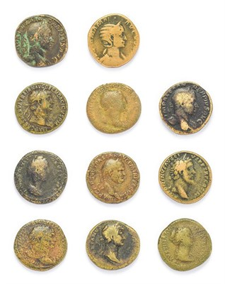 Lot 4011 - Ancient Rome, A Collection of 10 x Brass Sestertii consisting of coins of the emperors:...