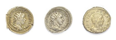Lot 4012 - Ancient Rome,3 x Silver Coins consisting of: Gordian III (238 - 244 A.D.), silver antoninaius...