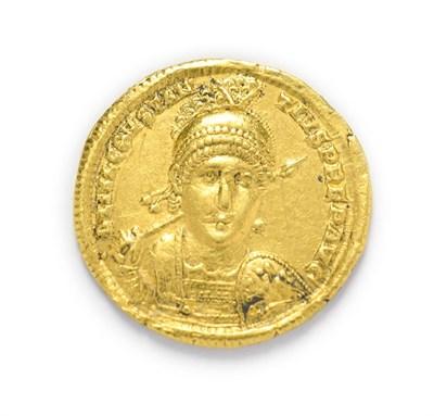 Lot 4014 - Ancient Rome, Constantius II (337 - 361 A.D.), Gold Solidus. 4.45g, 20.6mm, 5h. Antioch Mint....