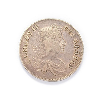 Lot 4020 - Charles II (1660 - 1685), 1672  Crown. Obv: Third, laureate bust of Charles II right, inverted...