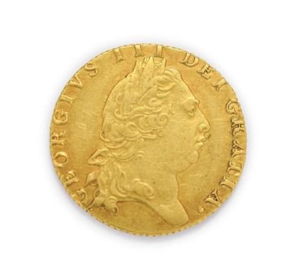 Lot 4021 - George III (1760 - 1820), 1795 Guinea. Obv: Fifth, laureate portrait of George III right. Rev:...
