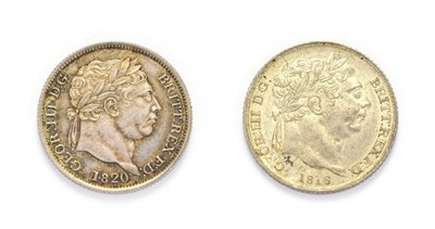 Lot 4022 - George III (1760 - 1820), 1820 Shilling. Obv: Laureate head of George III right. Rev: Crowned...
