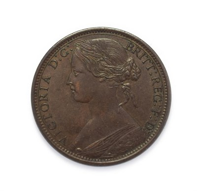 Lot 4028 - Victoria (1837 - 1901), 1867 Penny. ''Bun head'' type. Obv: 6, Laureate and draped bust left,...