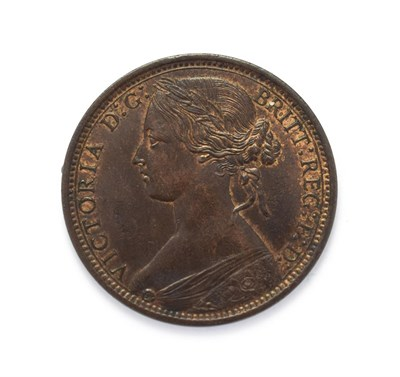 Lot 4029 - Victoria (1837 - 1901), 1868 Penny. ''Bun head'' type. Obv: 6, Laureate and draped bust left,...