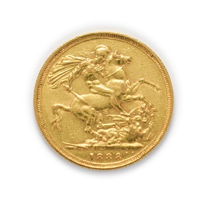 Lot 4031 - Victoria (1837 - 1901), 1888 Sydney Mint Sovereign. Obv: Jubilee bust of Victoria left, J.E.B....