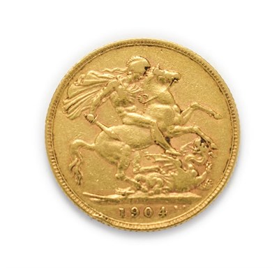 Lot 4038 - Edward VII (1901 - 1910), 1904 Sovereign. Obv: Bare head of Edward VII right, DeS. below truncation