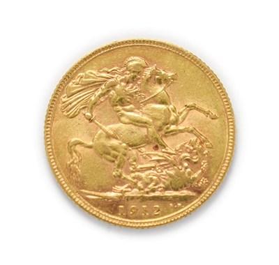 Lot 4049 - George V (1910 - 1936), 1912 Sovereign. Obv: Bare head of George V left, B.M. below truncation...
