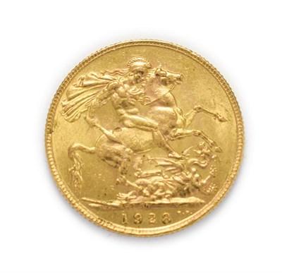 Lot 4053 - George V (1910 - 1936), 1928 South Africa Mint Sovereign. Obv: Bare head of George V left, B.M....