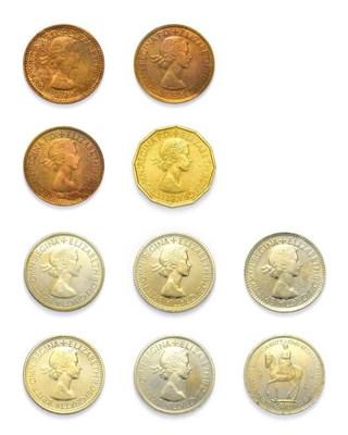 Lot 4057 - Elizabeth II (1952 - ), 1953 ''Coronation'' 10-Coin Proof Set. Comprised of crown, halfcrown,...
