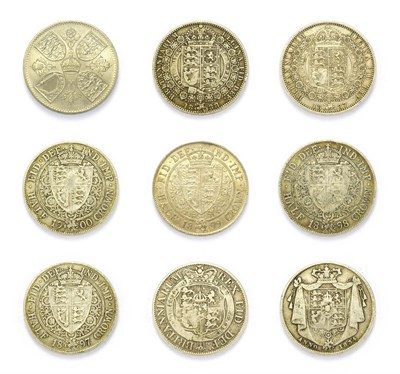Lot 4065 - Great Britain, A Collection of 8 x Silver Halfcrowns consisting of: George III, 1819 halfcrown....